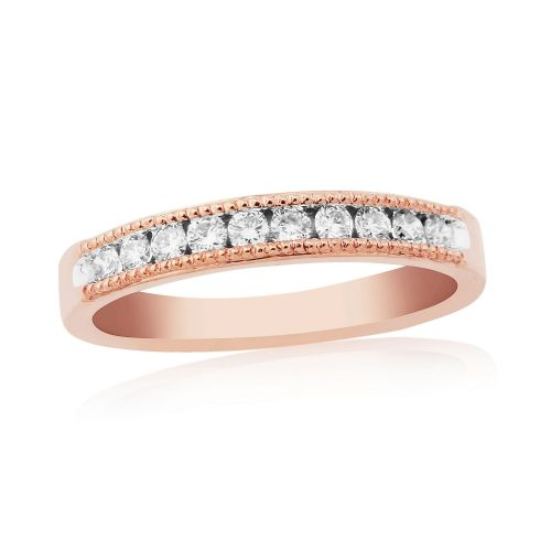 Rose Gold Diamond Channel Set | Eternity Ring  | DR1306R